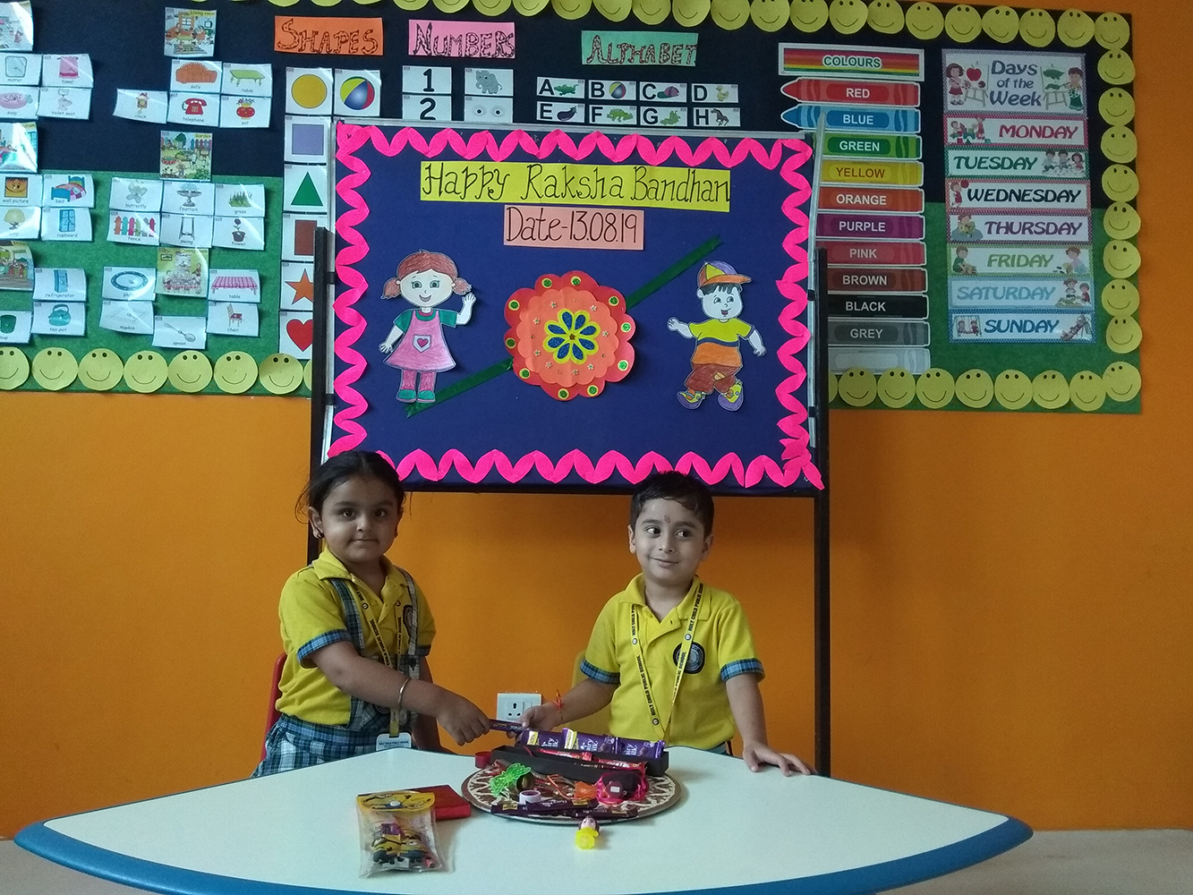 Rakhi Celebration for Nur KG